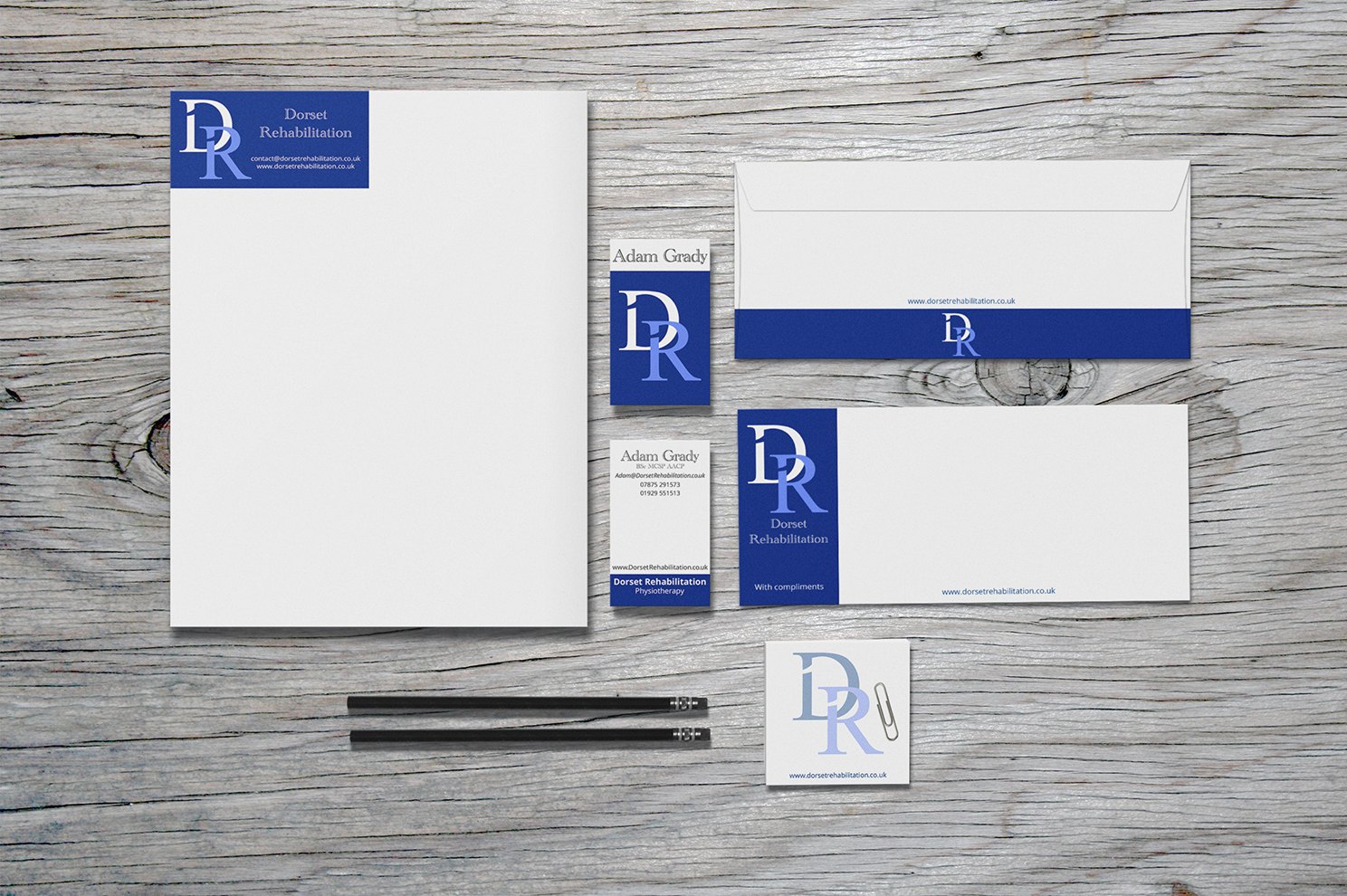 Branding Design Mockup for Dorset Rehabilitation