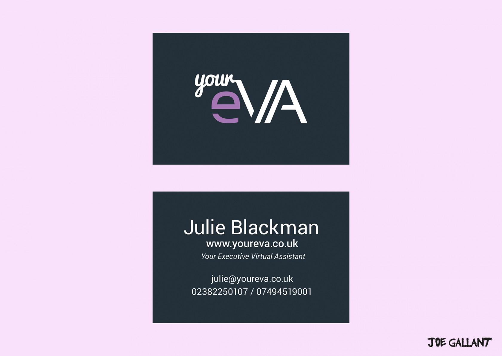 Mockup of YourEVA custom business card design