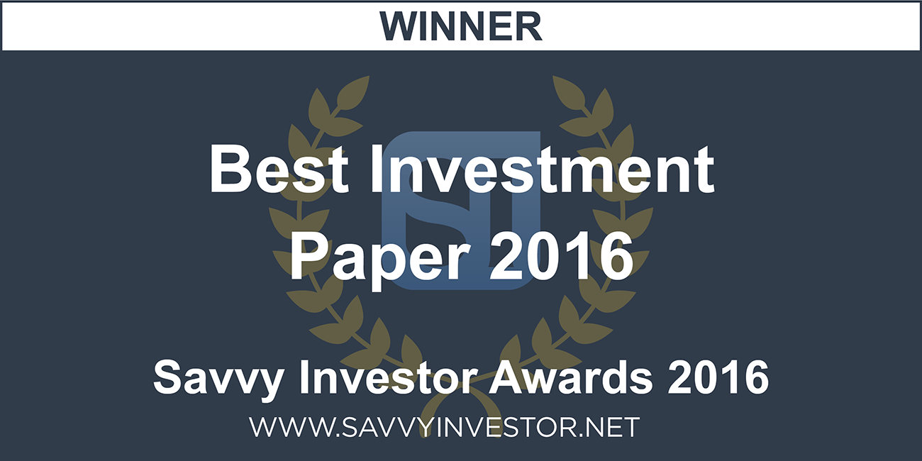 2016 Best Investment Paper Winner - ChurchTrain
