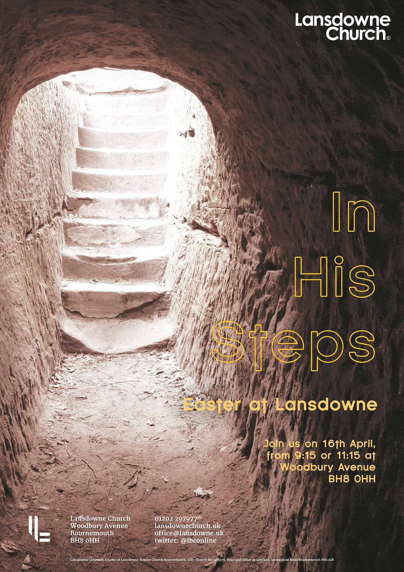 Easter In His Steps Flyer Poster Design - ChurchTrain