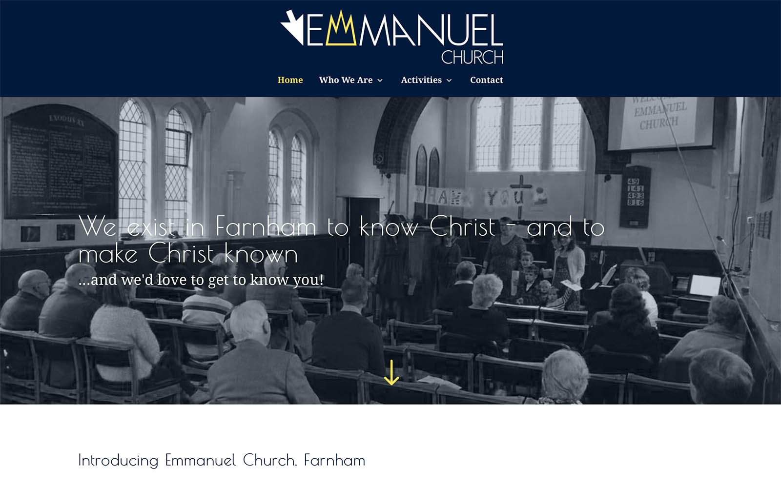 Emmanuel Church Website Design Screenshot
