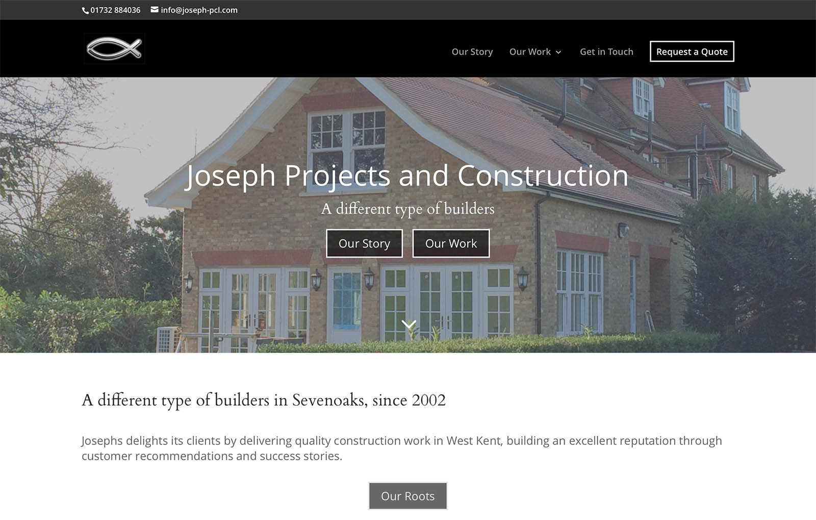 Builders Website Design Screenshot