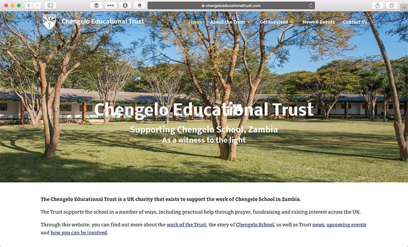 Charity Website Design in Bournemouth - Chengelo by Joe Gallant